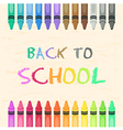 Crayons Set Back to School vector image