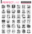 education classic black mini concept symbols vector image