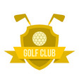 golf club icon isolated vector image