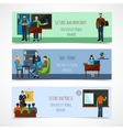 University People Banner Set vector image