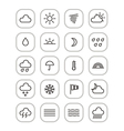 Weather forecast web icons collection vector image