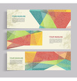 banners with abstract vintage polygonal background vector image