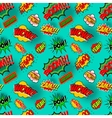 Seamless pattern with comic style phrases Pop art vector image vector image
