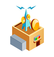 icon broadcasting station vector image vector image