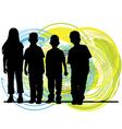 Little kids vector image vector image