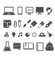 Education silhouettes collection isolated on white vector image