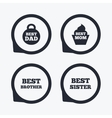 Best mom and dad brother sister icons vector image