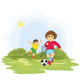 kids playing soccer vector image vector image