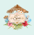 Tropic style spa banner vector image