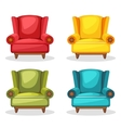 armchair soft colorful homemade set 2 vector image