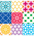 moroccan tiles design seamless geometric pattern vector image