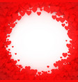red heart frame heart confetti frame for banner vector image