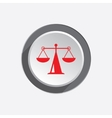 Scales web icon Justice weight balance symbol vector image