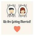 We are getting married card vector image