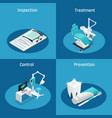 stomatology dentistry isometric icon set vector image