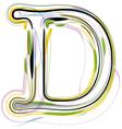 Organic Font letter d vector image