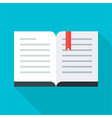 Flat stylized open book vector image