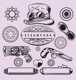 Steampunk Vintage Element Set vector image vector image