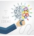 Creative Brain Idea vector image vector image