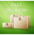Brown delivery packaging box vector image