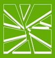 broken glass icon green vector image