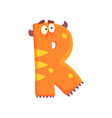 cartoon character monster letter r vector image
