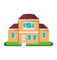 cartoon house traditional detailed modernn vector image