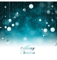 Elegant background with snow and Christmas garland vector image