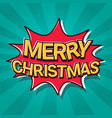 santa hand hold merry christmas and happy new year vector image