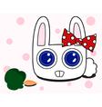 Snow rabbit vector image