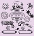 Steampunk Vintage Element Set vector image