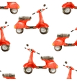 watercolor seamless pattern with scooter vector image