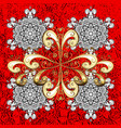 white pattern white floral ornament brocade vector image