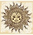 Ethnic ornamental sun vector image vector image