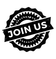 Join us stamp vector image