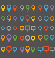 Color navigation pins collection vector image
