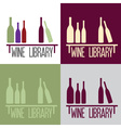 wine library concept vector image