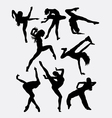 Beautiful dancer performing silhouette vector image vector image