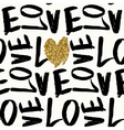 Love Typographic Seamless Pattern vector image