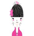 Beautiful Japan Girl stylized vector image vector image