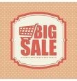big sale shop cart polka dot vintage vector image