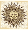 Ethnic ornamental sun vector image