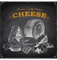 Hand drawn with cheese vector image