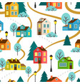 landscape of town seamless pattern vector image
