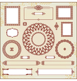 vintage floral pattern elements collection vector image