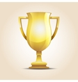 winner cup light background vector image