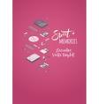 Sweet memories decorating design vector image