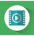 Movie video of social media theme vector image