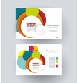 Business cards with bright circles design vector image vector image