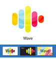 multicolored wave columns logo concept vector image